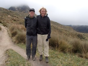 Hiking with Gary in up to Volcan Pinchincha